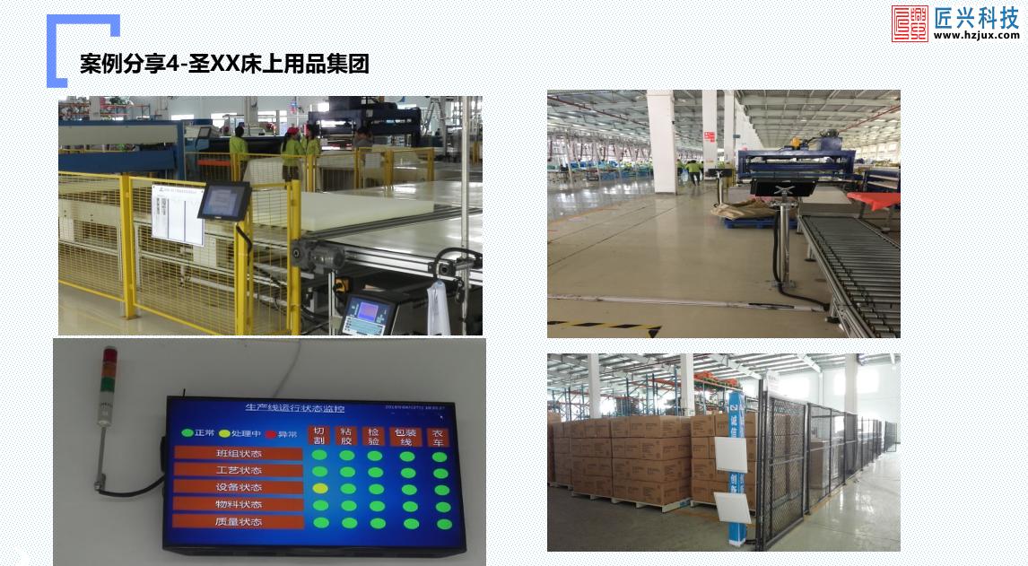 圣XX床上用品集团工厂生产数据采集系统