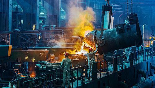 钢铁生产工厂